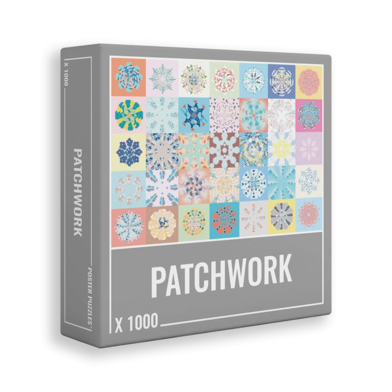 Patchwork 1000 piece jigsaw puzzle from Cloudberries