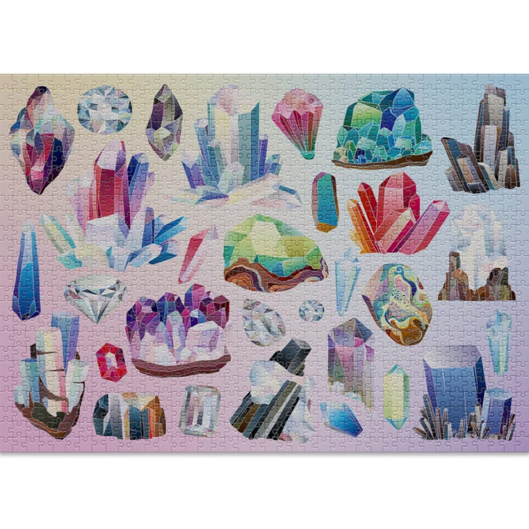 Crystals 1000-piece puzzle by Cloudberries