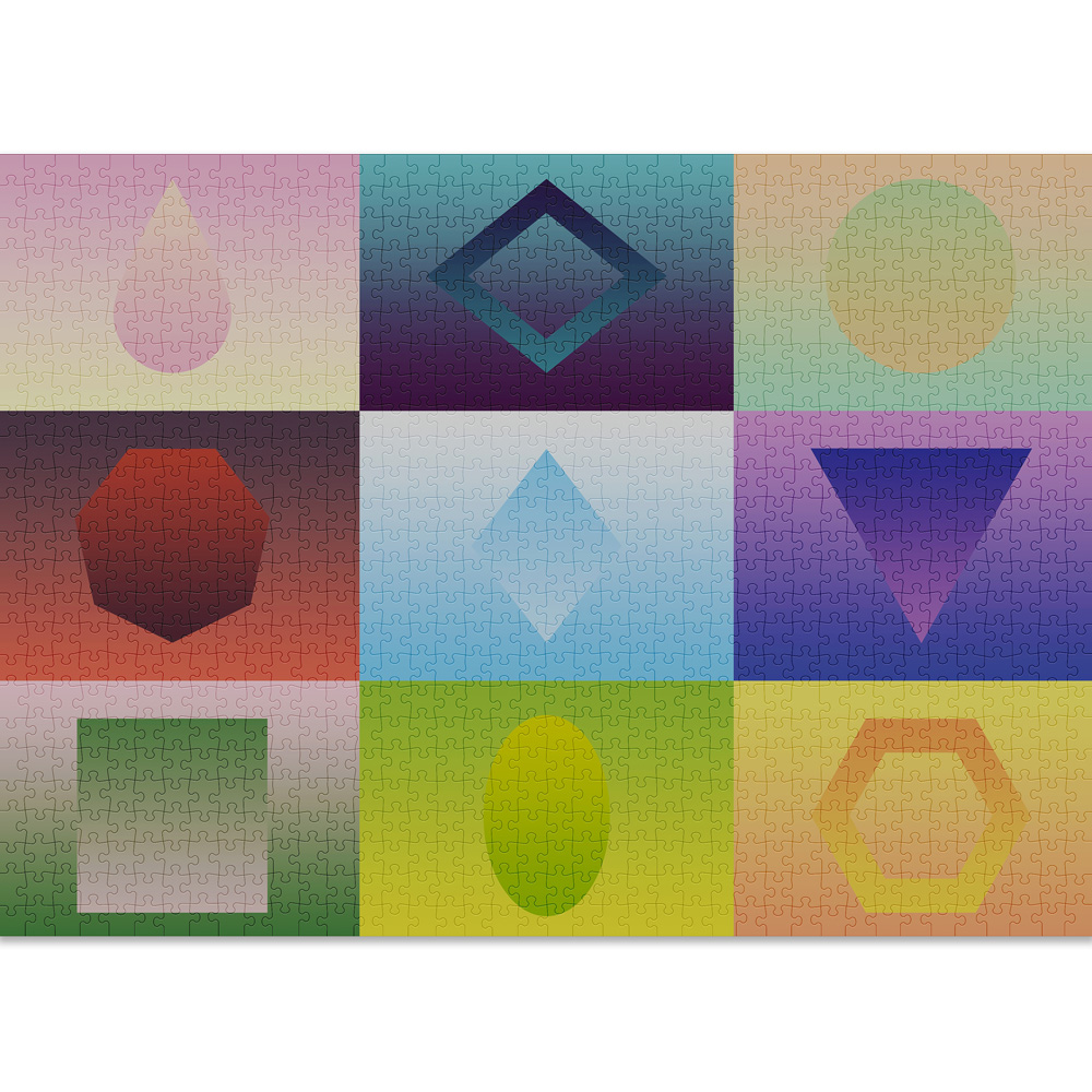 Geometry 1000 piece puzzle from Cloudberries