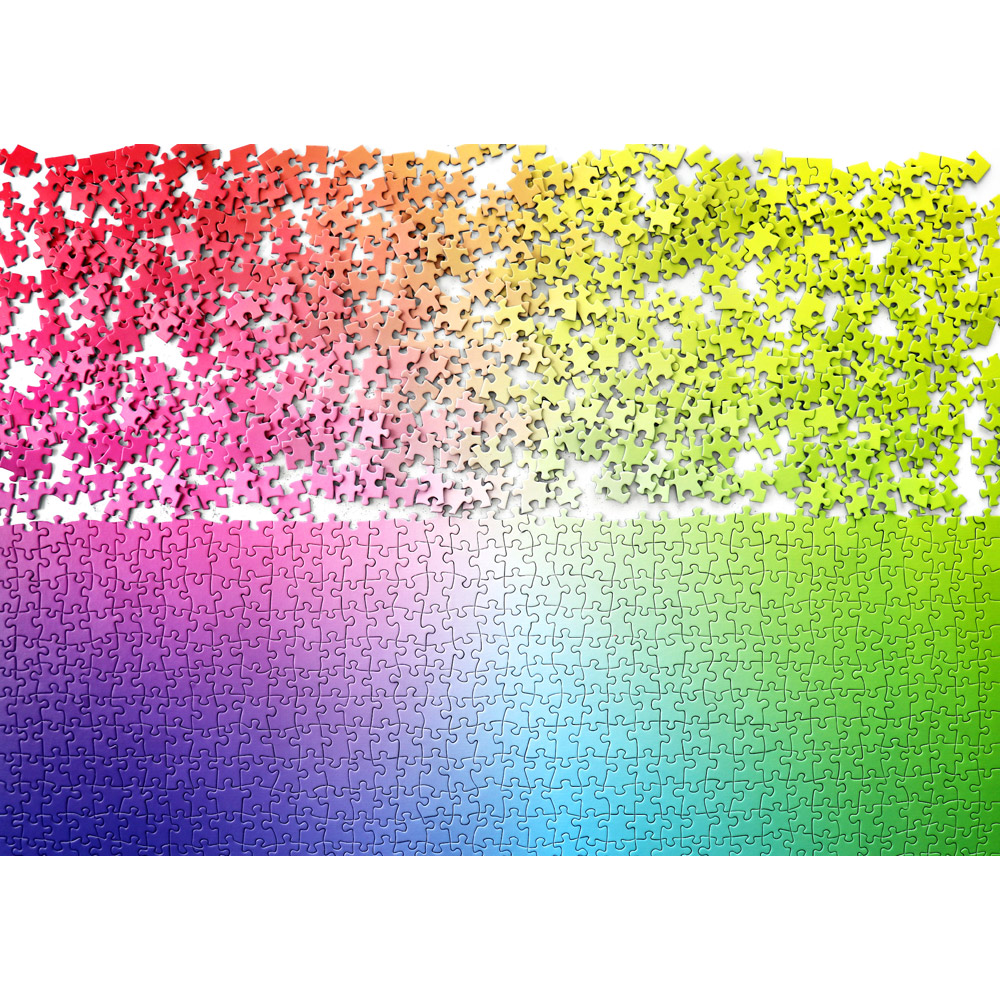 1000 piece rainbow colour puzzle from Cloudberries