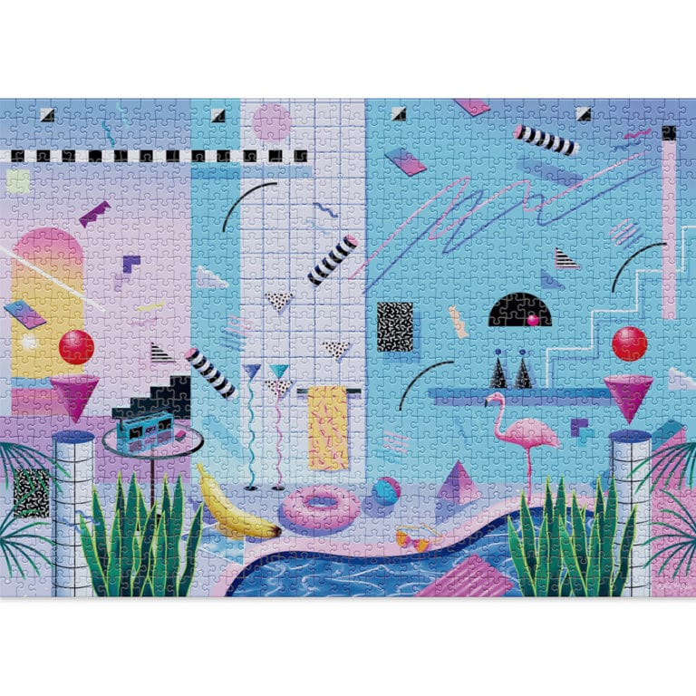 Poolside 1000 piece puzzle by Cloudberries