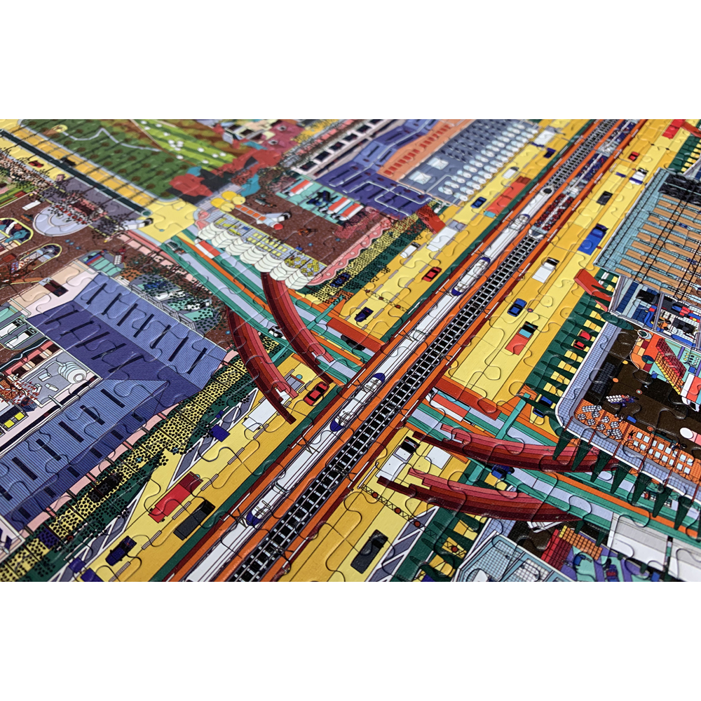 Crossroads city map jigsaw puzzle for grown ups