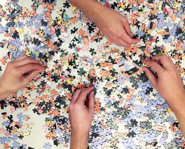 Puzzle clubs are great for tackling larger projects