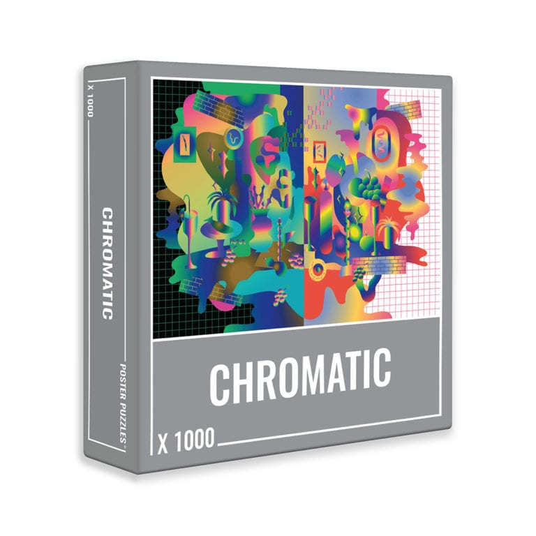 Chromatic is a psychedelic 1000-piece puzzle from Cloudberries