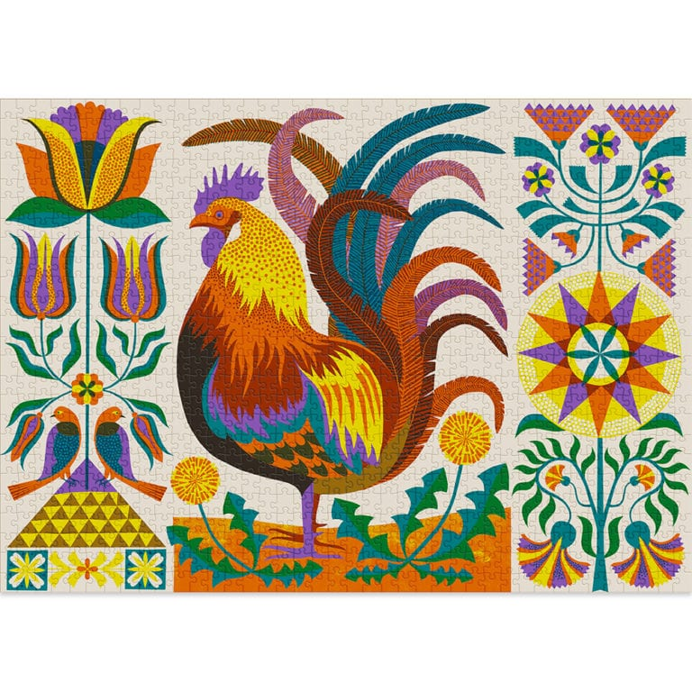Rooster 1000-piece puzzle by Cloudberries