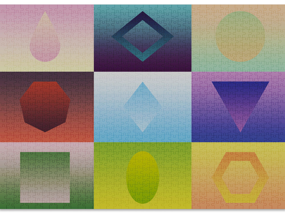 Geometry is a Cloudberries puzzle that's easy to complete