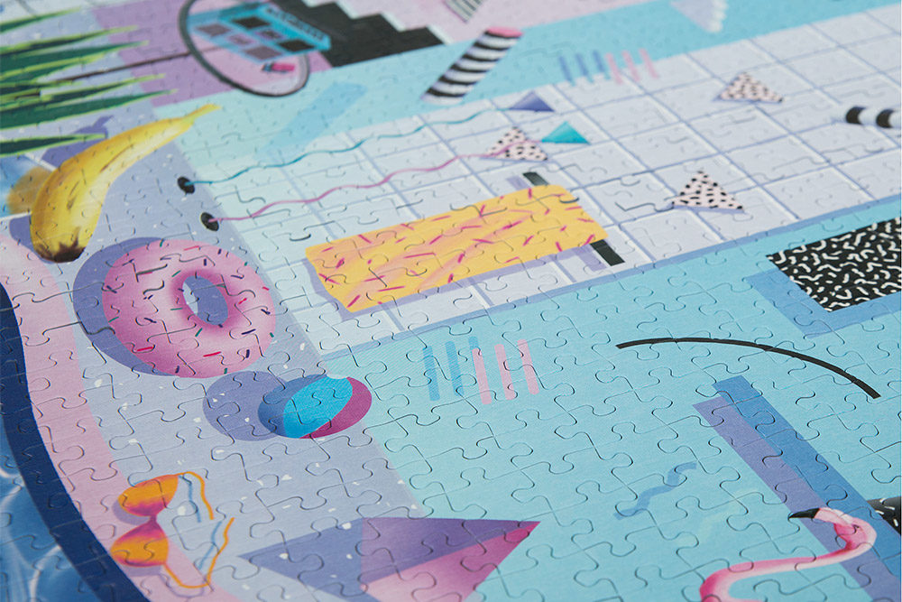 Fun, retro style puzzle called POOLSIDE from Cloudberries