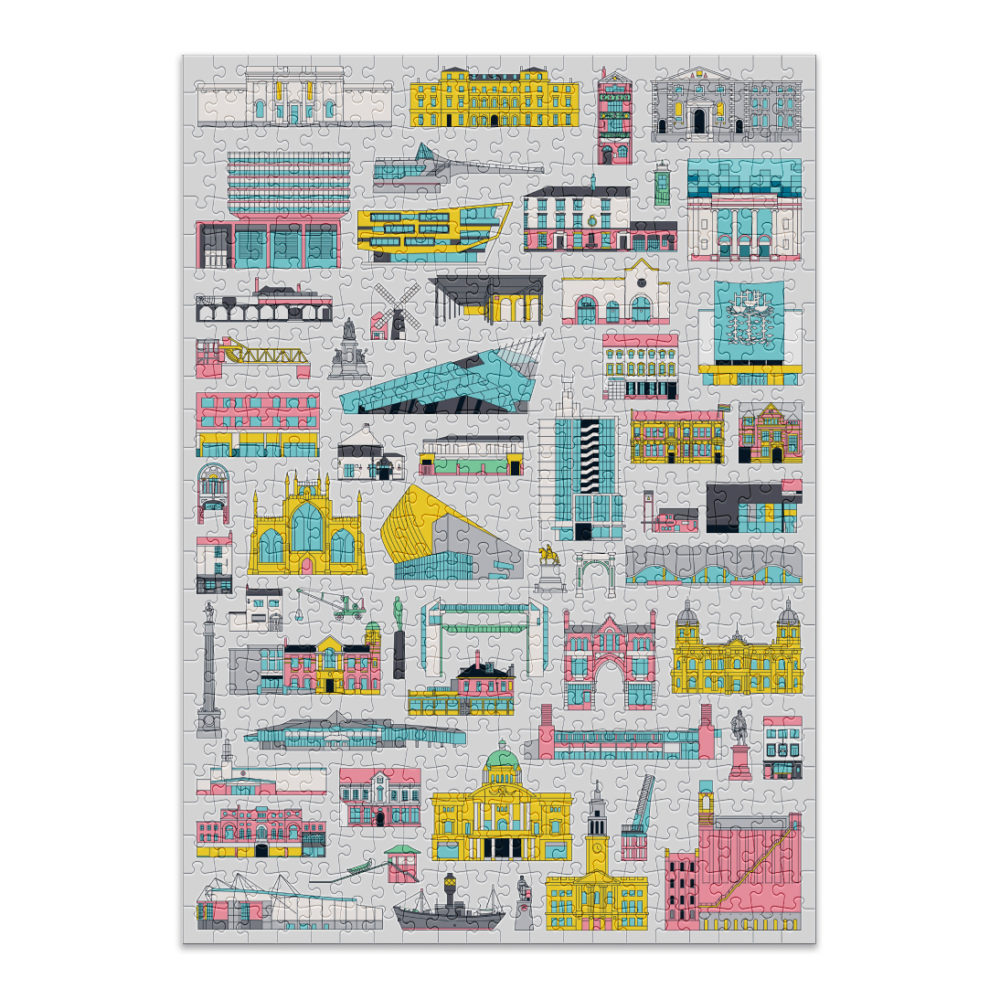 500 piece buildings puzzle from Cloudberries