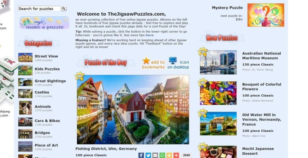 the jigsaw puzzles website