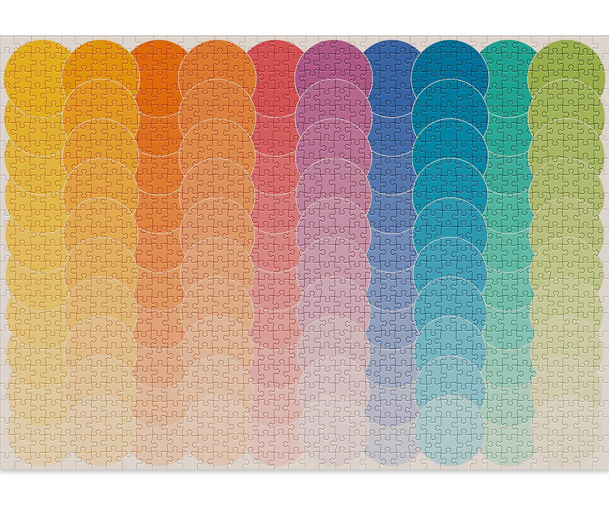 Waves is a fun 1000-piece gradient puzzle by Cloudberries