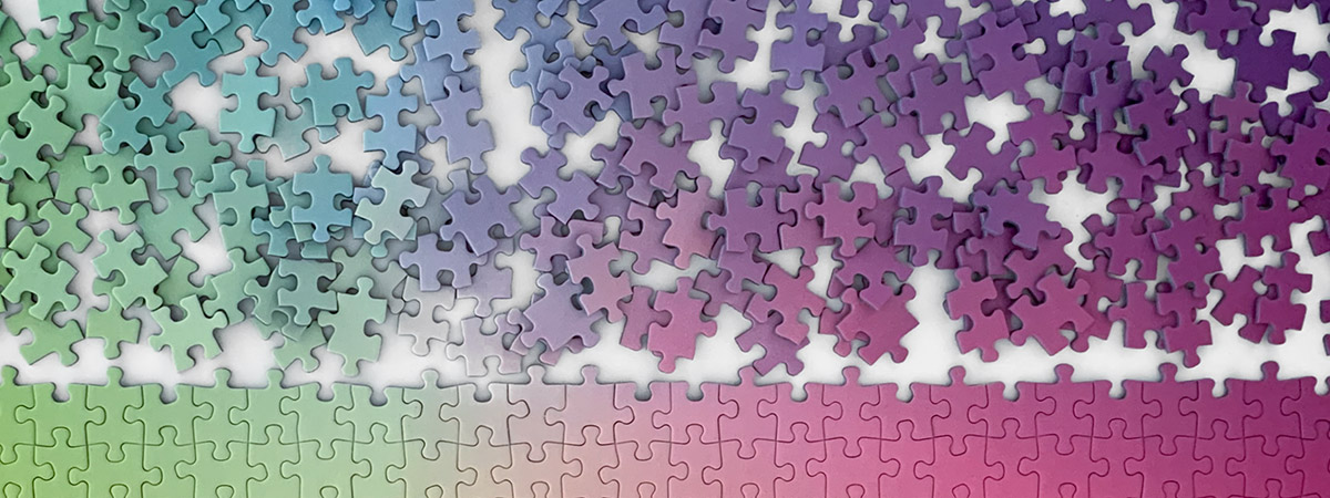 Try the challenging 500-piece jigsaw puzzles from Cloudberries, designed especially for adults