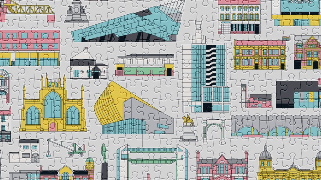 Buildings is one of our bestselling 500-piece puzzles