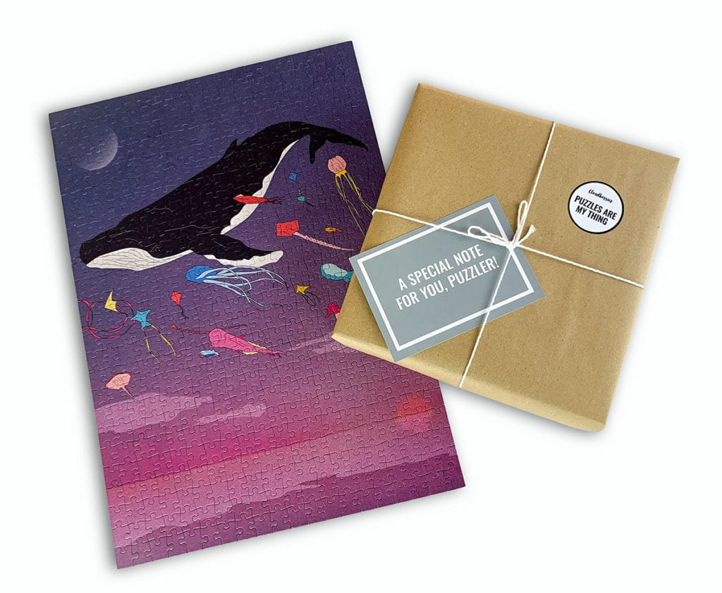 The jigsaw puzzles at Cloudberries can now be gift wrapped!