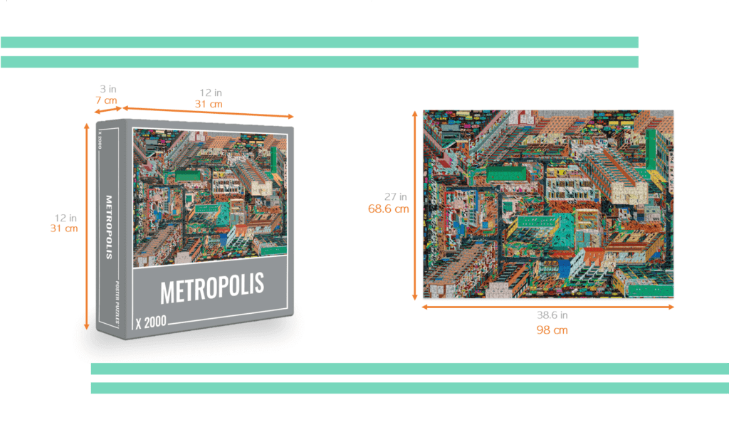 metropolis jigsaw puzzle with dimensions