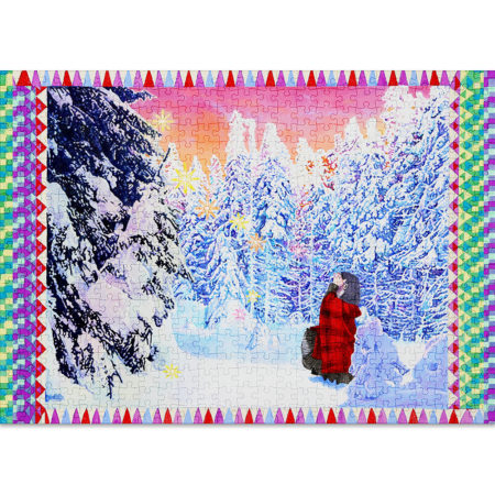 Snow is a 500-piece Christmas puzzle for adults